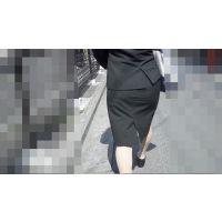【FHD 60i】女子大生のお尻3-1(リクルートスーツ -うっすらパンツライン-)