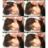 Vシネ、AV女優、美咲礼さん。膝枕で快感耳掃除(左耳編2)
