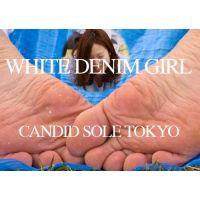 ホワイトデニムの普通女子