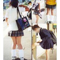 ルーズソックス女子高生制服画像街撮りブルマもチラリ