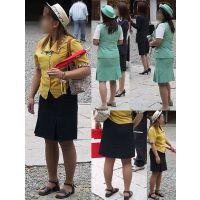 バスガイド制服ムチムチで豊満ぴったり制服画像