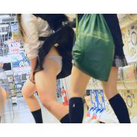 なかよしJK2人組 超ミニスカートでダブルパンチラ&ふざけてスカートめくりあいっこ!!