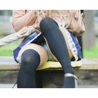 街中美女パンチラ 公園で大胆パンチラする清楚系美人のスカートを思いっきりめくってやった!! Part1