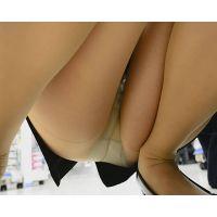 新入社員OLパンチラ 短すぎるスカートから見えるパンスト越しパンチラ!! Part2