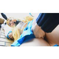 【セット販売】セクシーコスプレ美女を激痴漢!!アニコス美女のまる出しお尻を触りまくり!!&チ○ポ押し付けてザーメンぶっかけ!!