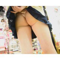 女子校生街中パンチラ 超ミニスカートの下は激エロTバック!!&スカートめくってお尻まる出し!! Part2