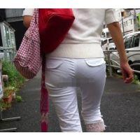 ロン爺のピタパン女がゆく1 道で偶然見つけた透け白パン編