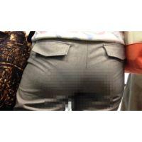 【HD画質】 ロン爺のピタパン女がゆく15 パンツスーツOLを電車で密着編