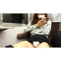 vol.11【セレブ妻 電車対面マン肉パンチラ盗撮】Tバックの股間に食い込む勃起動画