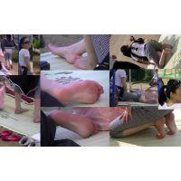 【運動会裸足ママ16】 足の裏は汗と砂で汚れてもオシャレママは裸足が基本!!