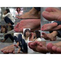 【若ママの足41】 奥さん達のぺディ無し生爪!!スッピン的でいい感じの健康足指。