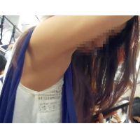 136,ワキの下見放題!!白いタンクトップの可愛い女子○生を観察して来ました!!