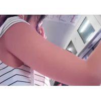 135,美脚ミニワンピの女子○生のおまたからピラピラしているモノが出ていたので観察して来ました!!