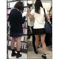 【新カメHD動画】制服娘の白いパンツ逆さ撮りNo19(顔あり)