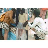 【新カメHD動画】カワイイ娘の生パンツ逆さ撮りNo53(顔あり)