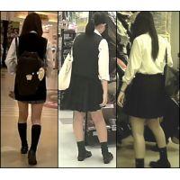 【新カメHD動画】制服娘の白いパンツ逆さ撮りNo21(顔あり)