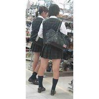 【新カメHD動画】制服娘逆さ撮りNo13(顔あり)