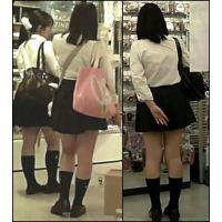 【新カメHD動画】2日分制服娘逆さ撮りNo3