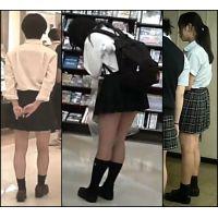 【新カメHD動画】制服娘逆さ撮りNo84