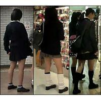 【新カメHD動画】制服娘逆さ撮りNo87
