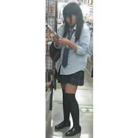 【新カメHD動画】制服娘逆さ撮りNo24(顔あり)