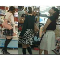 【新カメHD動画】カワイイ娘の生パンツ逆さ撮りNo52(顔あり)