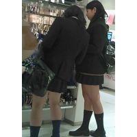 【新カメHD動画】制服娘逆さ撮りNo50(顔あり)
