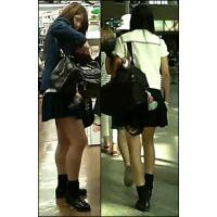 【新カメHD動画】制服娘の白いパンツ逆さ撮りNo20(顔あり)