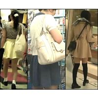 【新カメHD動画】カワイイ娘の生パンツ逆さ撮りNo73