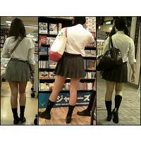 【新カメHD動画】制服娘逆さ撮りNo75(顔あり)