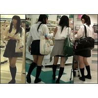 【新カメHD動画】制服娘逆さ撮りNo76(顔あり)
