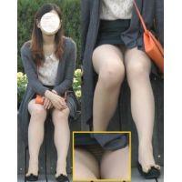 [FullHD]座る美人・美脚ミニスカお姉さん!!完璧です!!