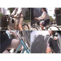 街のむっちりタイトスカートOL (自転車編10)