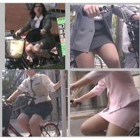 街のむっちりタイトスカートOL(自転車編6)