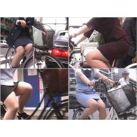 街のむっちりタイトスカートOL (自転車編7)
