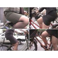 街のむっちりタイトスカートOL (自転車編11)