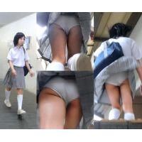 【鬼畜スカートめくり23】〜●Cにめくり&風チラで下半身丸出しに、、、〜