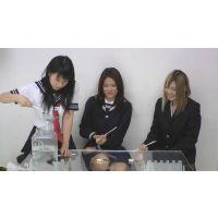 元気な金魚を踏みつけミンチにするSNSで知り合ったドS女子校生3人組