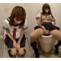 ギャル 援トイレでオナニー顔出し動画(前半)