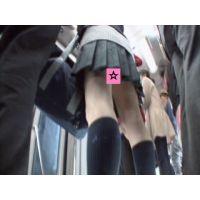 <ぱんちら>バスの女子○生 01