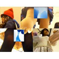 【美少女】スーパー美脚&おしゃれコーデを下から見上げちゃう!!