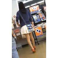 【美少女】足長美脚ミディアムJ〇ちゃん!!ひらひらスカートの中身!!