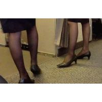 【美脚の表情】働く女性の黒スト8(前)【街撮り】
