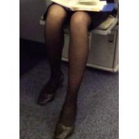 【美脚の表情】働く女性の黒スト4(竹)【街撮り】