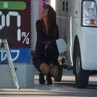 ガソリンスタンドな女