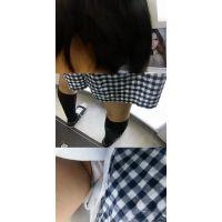 【フルHD】幼児体型の女子高生の純白パンティ!