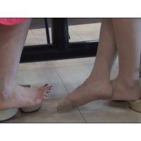 足の裏,素足,靴脱ぎ,脚フェチ,足フェチ,ヒール,パンスト,つま先,パンプス,サンダル, Download