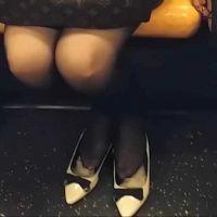 ☆動画☆パンプスのかかとをカットして履くOL