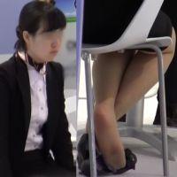 ☆動画☆イベントスタッフのパンプス脱ぎ 17