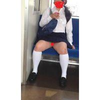 電車で帰宅途中のCのピンクのパンツ 電車人vol.12